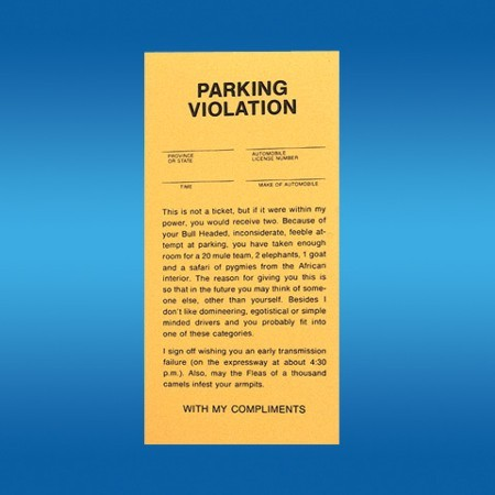Parking tickets trickmaster magic shop for Free fake parking ticket template